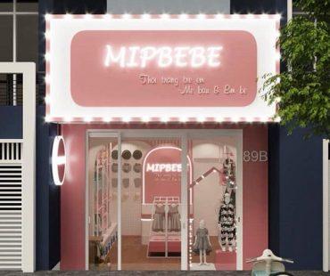 Thiết kế shop quần áo và phụ kiện cho trẻ em Mipbebe