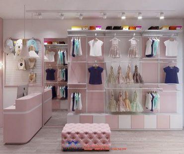Thiết kế shop quần áo trẻ em 10m2 – Chị Minh Anh