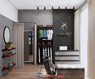 Thiết kế shop thời trang thể thao Lumigolf – Hà Nội