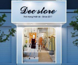 Thiết kế cửa hàng quần áo thời trang nữ Dec Store