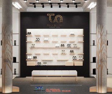 Thiết kế phòng livestream bán giày giày authentic