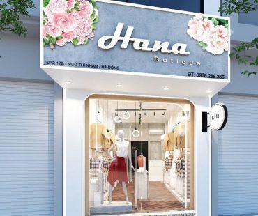 Shop thời trang nữ Hana phong cách bánh bèo