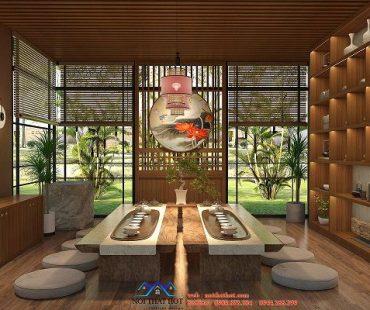 Thiết kế nội thất quán trà đạo – Anh Phúc – Hà Nam