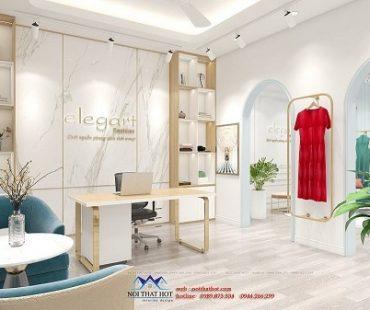 Thiết kế công ty kết hợp shop thời trang Elegart