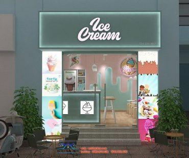 Thiết kế quán kem tươi Ice Cream tại Dịch Vọng