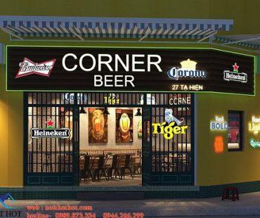 Thiết kế quán bia cỏ cực chill tại 27 Tạ Hiện
